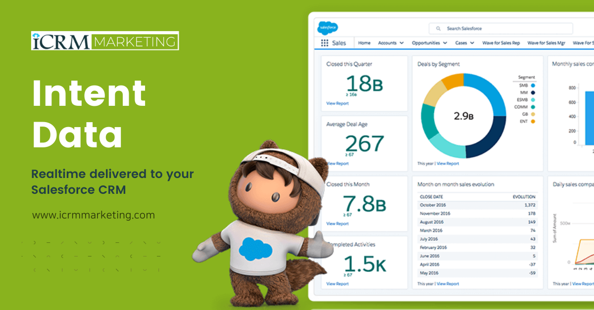 Intent Data - Realtime delivered to your Salesforce CRM with the lead success rate.